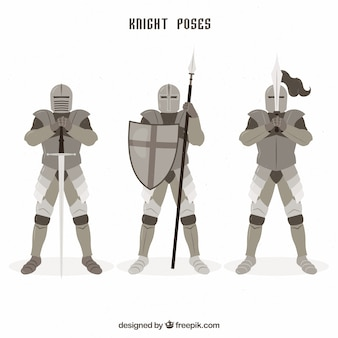 Pack of knights in different positions