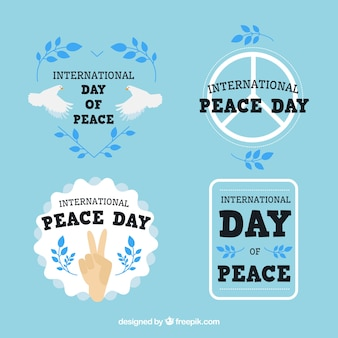 Pack of labels for peace