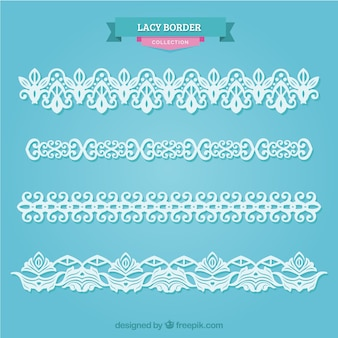 Pack of lace ornaments