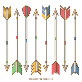 Pacco di frecce lineari