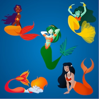 Pack little mermaids