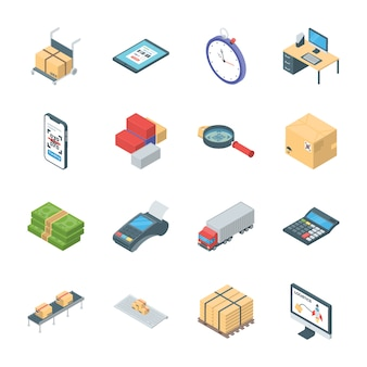 Pack of logistics icons
