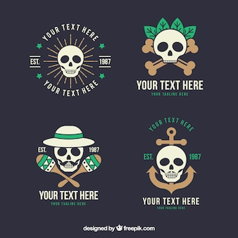 Pack of logos with skulls