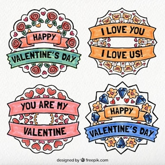 Pack of love floral wreath stickers
