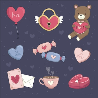 Pack of lovely valentine's day elements