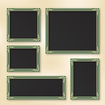 Pack of lovely vintage scrapbook frames