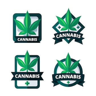 Pack of medical cannabis badges