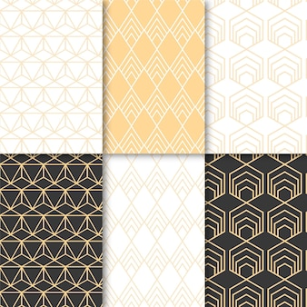 Pack of minimal geometric pattern