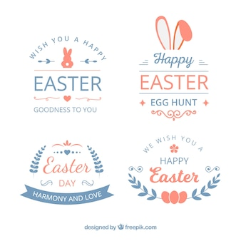 Pack of modern easter labels