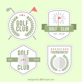 Pack of modern golf labels