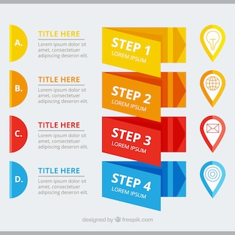 Pack of modern infographic banners