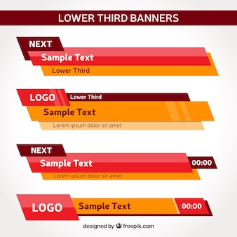 Pack of modern lower third banners