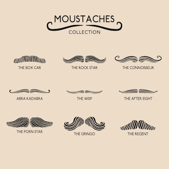 Pack of movember moustaches