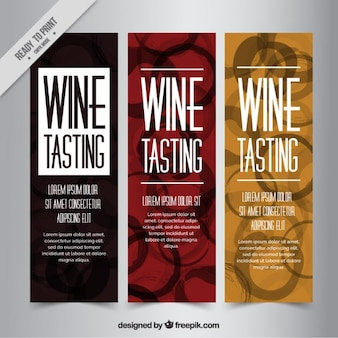 Pack of nice banners with wine stains