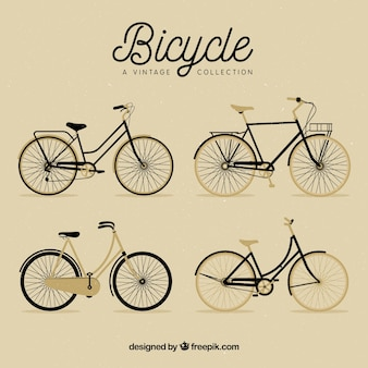Pack of nice bikes in retro style