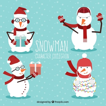 Pack of nice snowmen