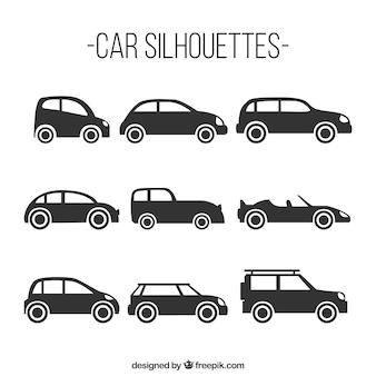 Confezione di nove sagome di auto
