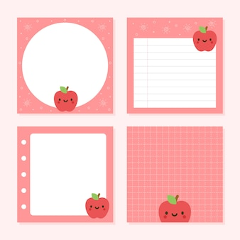Pack of notepad cute apple collections