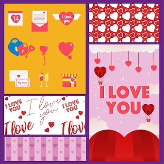 Pack objects valentine day