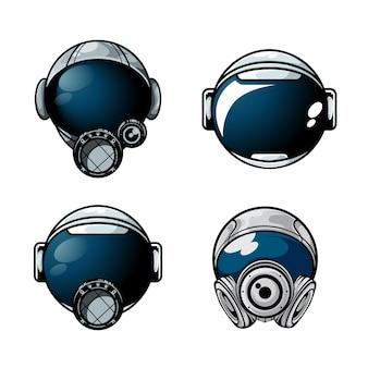 Пакет иллюстрации шлем космонавта