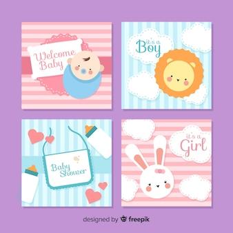 Пакет карт для детского душа