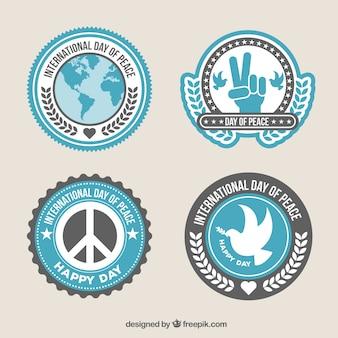 Пакет значков на международный день мира