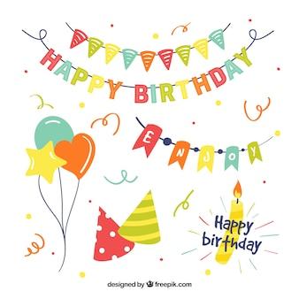 Упаковка из воздушных шаров и элементов на день рождения