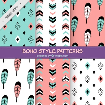 Pack of beautiful abstract hand drawn patterns