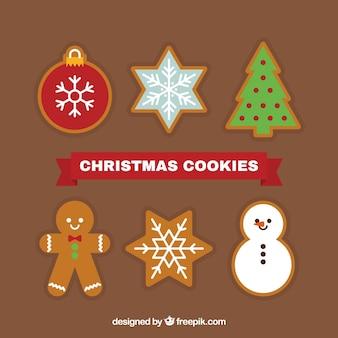 아름다운 크리스마스 장식품 쿠키 팩