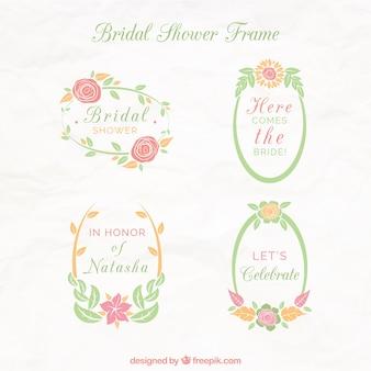 Пакет красивых цветочных рамок для свадебного душа