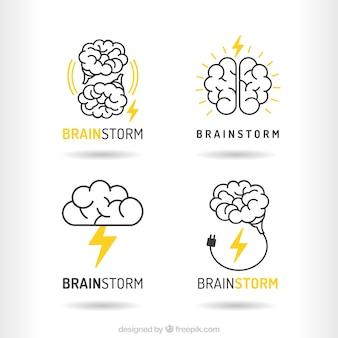 Пакет из мозгового логотипов
