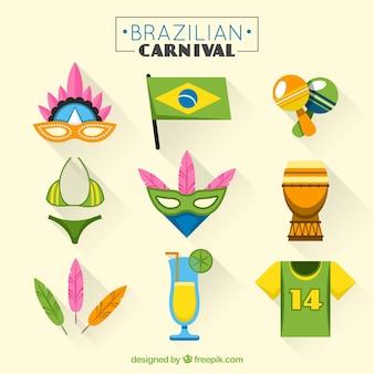 Пакет из бразильскому карнавалу партии