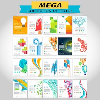 Pack of brochures with fantastic designs