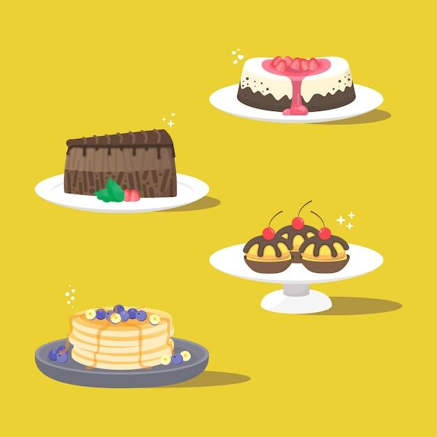 ケーキイラストのパック