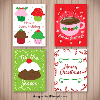 Пакет карт с рождественскими конфетами