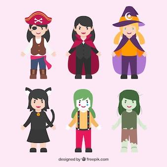 Пакет детей, замаскированных персонажей