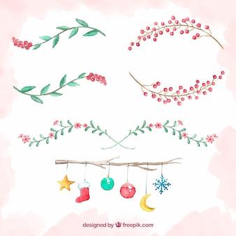 Пакет рождественских декоративных элементов