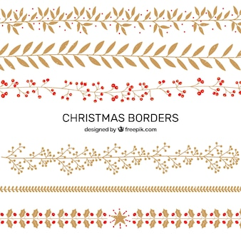 Pack of christmas decorative elements