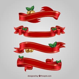 Набор рождественских декоративных лент