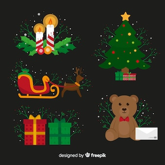 Pack of christmas elements