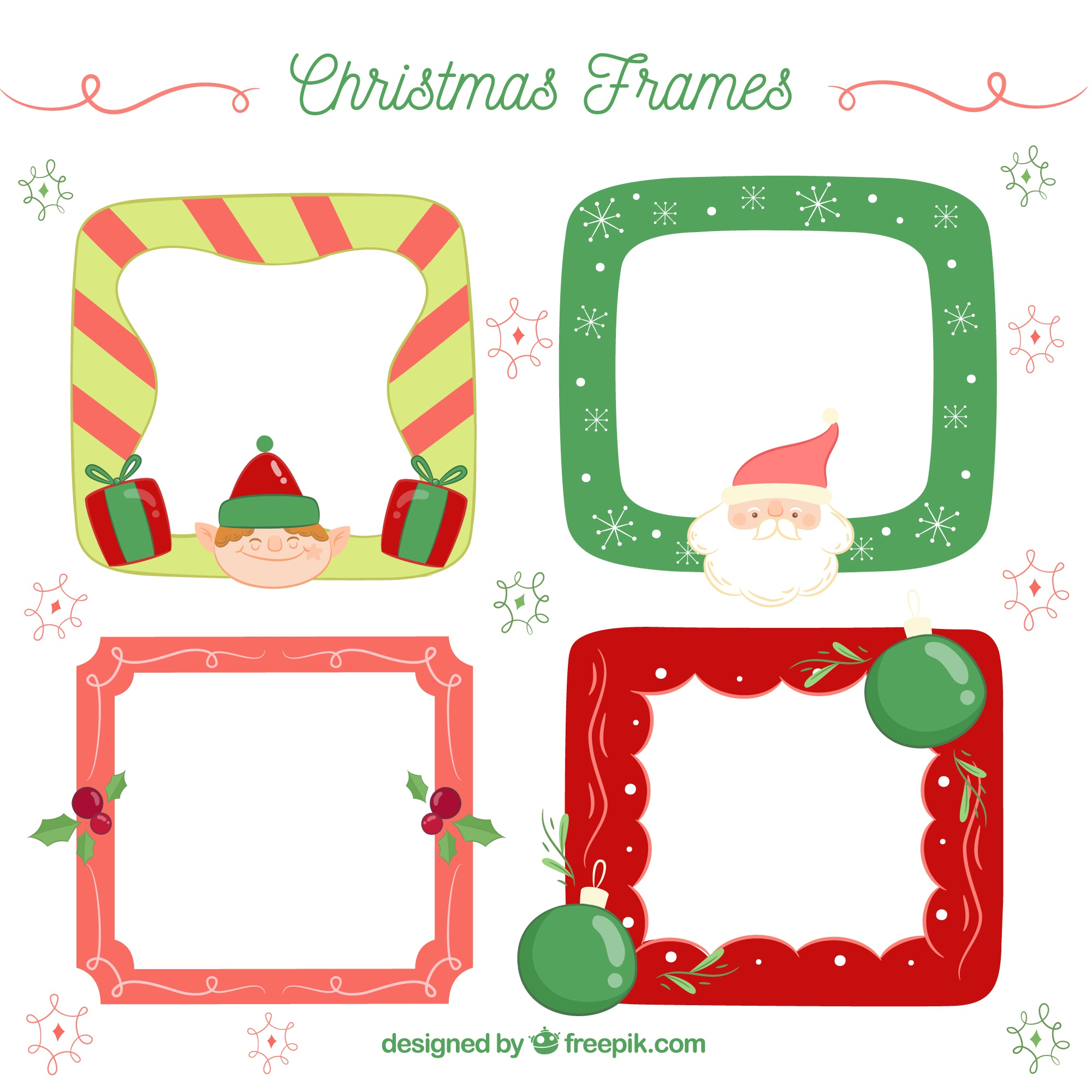Pack of christmas frames