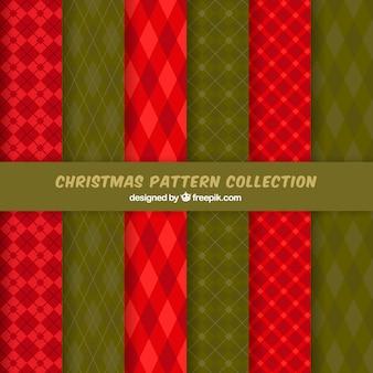 クリスマスの菱形パターンのパック