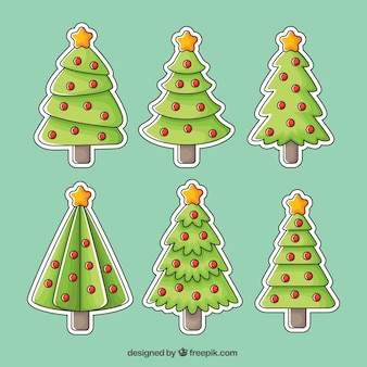 크리스마스 트리 스티커 팩