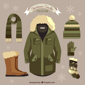 Pack of clothing with basic winter elements