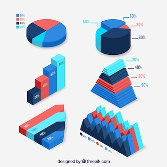Pack of color isometric charts