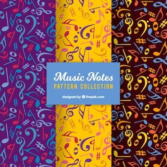 Пакет красочных музыкальных нот