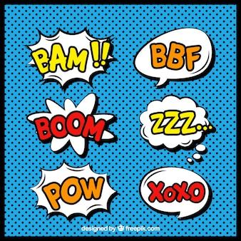 Пакет комиксов речи