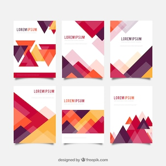 Pack of covers with geometric shapes