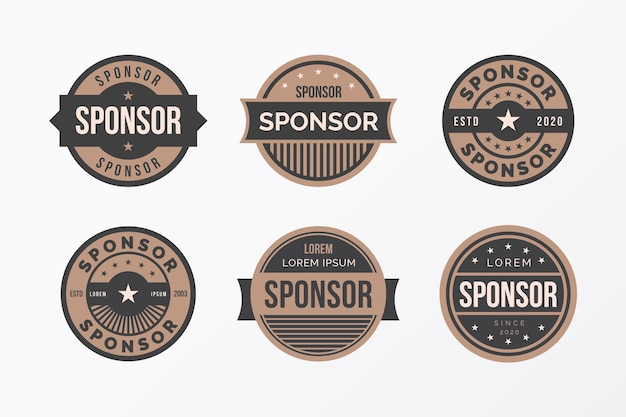 Пакет креативных спонсорских значков