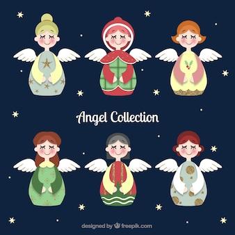 目を閉じてかわいいクリスマス天使のパック
